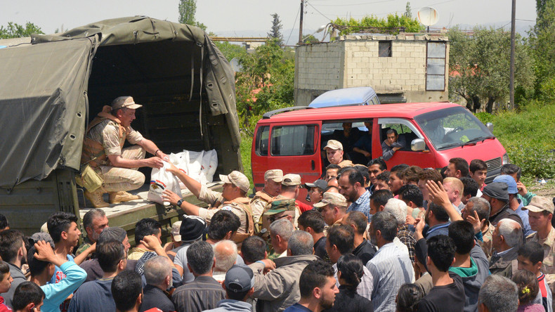 Russland verteilt in Syrien mehr als vier Tonnen humanitäre Hilfe
