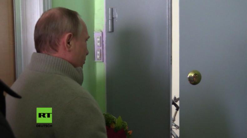 Putin überrascht ehemaligen Vorgesetzten aus Dresdner Zeiten zum Geburtstag.