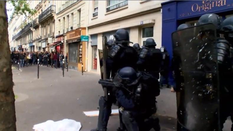 Live: Protest in Paris gegen den neuen Präsidenten Emmanuel Macron
