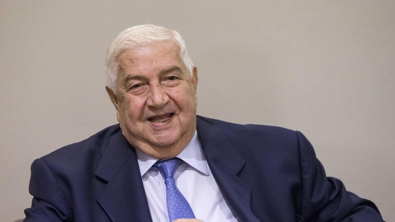 Syriens Außenminister warnt Jordanien vor Intervention