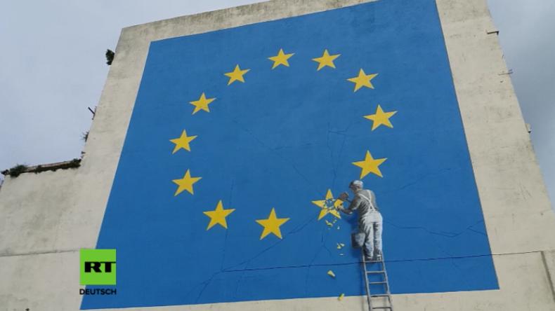 """Die """"glorreiche EU"""" bröckelt - Banksy meldet sich zurück"""