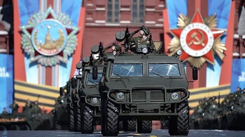 Siegesparade auf dem Roten Platz in Moskau