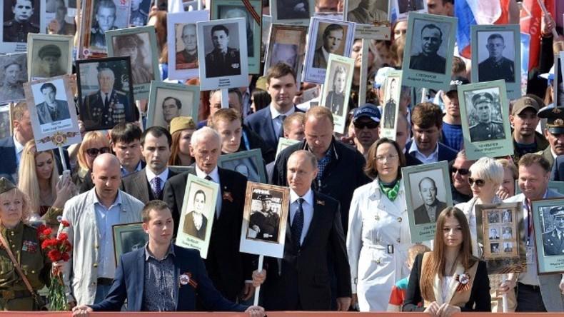 Live: Gedenkmarsch des Unsterblichen Regiments markiert den Tag des Sieges in Moskau