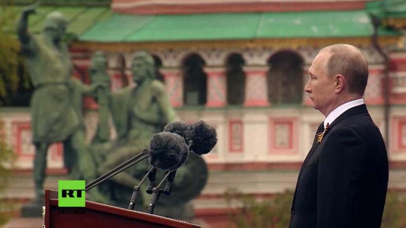 """Putins Rede zum Tag des Sieges: """"Wir sind für Frieden und niemand kann das russische Volk bezwingen"""""""
