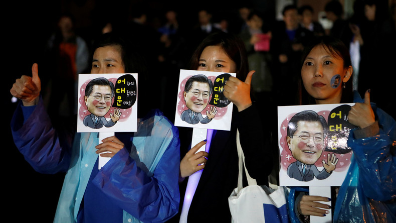 Offizielle Hochrechnungen: Mitte-Links-Kandidat Moon Jae wird neuer Präsident Südkoreas