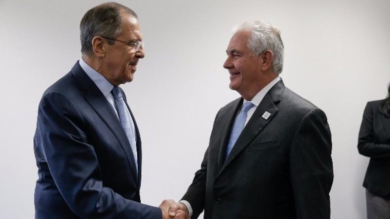 Live: Außenminister der USA und Russlands, Tillerson und Lawrow, treffen sich in Washington