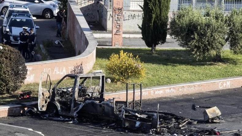 Mutmaßlicher Brandanschlag: Schwestern verbrennen in Campingwagen in Rom