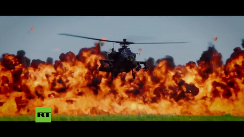 USA - Volles Programm auf Waffenexpo: Luft- und Bodentruppen spielen gemeinsam Krieg