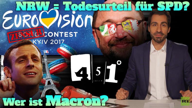451 Grad || ESC Polit-Poker | Schulz braucht Kraft für NRW | Kaiser Macron ||33
