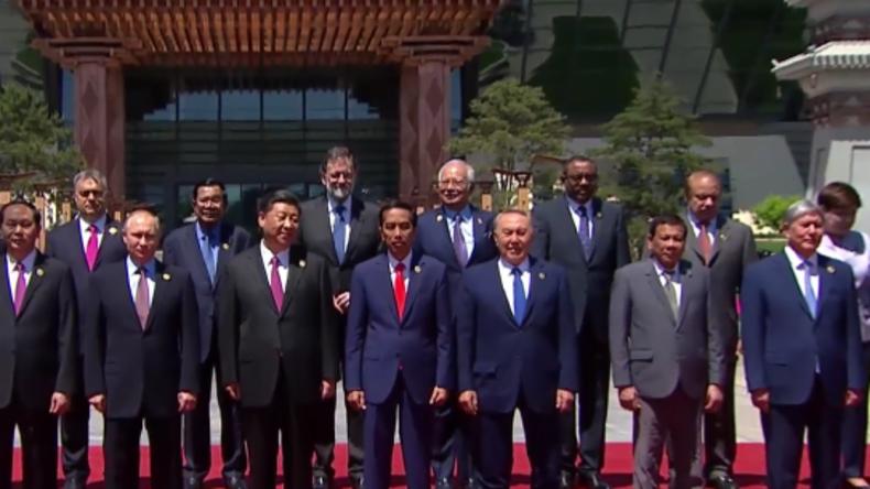 """Live aus China: Wladimir Putin gibt Pressekonferenz zu Plänen für """"Neue Seidenstraße"""""""