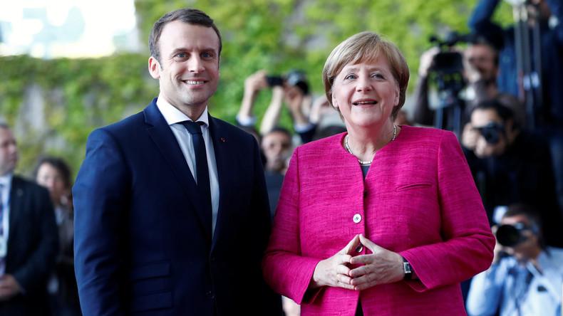 Live aus Berlin: Pressekonferenz mit Merkel und neuem französischen Präsidenten Macron