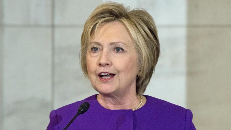 Hillary Clinton mit Spendeninitiative zurück in der Politik