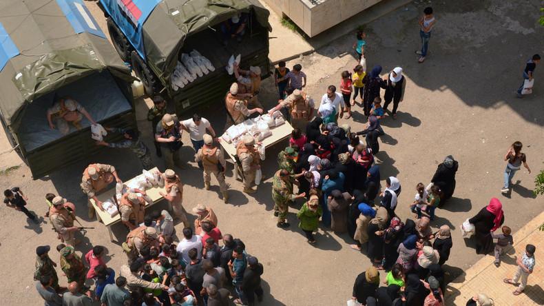 Russland liefert Syrern 6,4 Tonnen Hilfsgüter