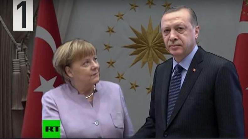 Nicht auf Augenhöhe: Merkel bettelt um Augenkontakt mit Erdogan