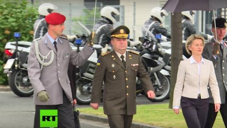 """""""Habt Ihr auch soviele Nazis bei euch?"""" - Von der Leyen empfängt ukrainischen Verteidigungsminister"""