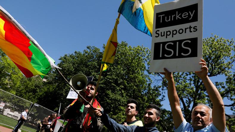 Erdogan in Washington: Zusammenstöße bei Protesten vor dem Weißen Haus