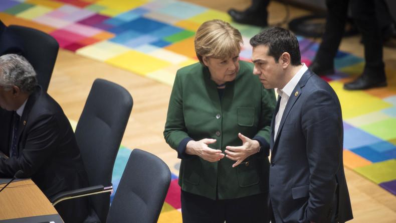 Merkel und Tsipras besprechen griechischen Schuldenberg