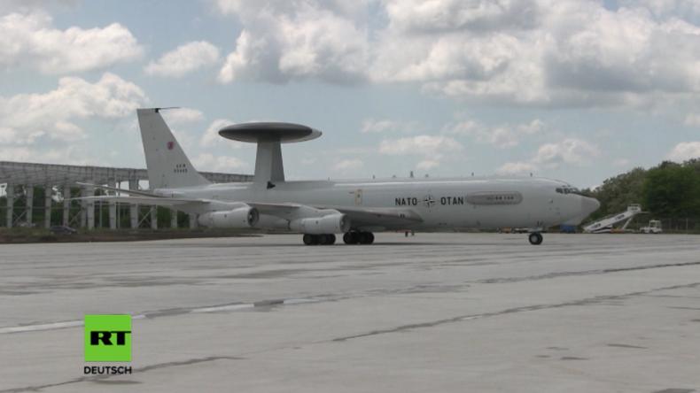 Wegen Ukraine-Krise: Awacs-Flugzeuge sollen Luftraum über Polen und Rumänien schützen