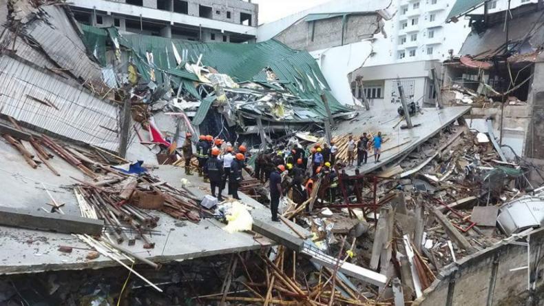 Mindestens 27 Verletzte bei Hauseinsturz in Sri Lanka