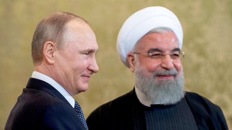 Wladimir Putin gratuliert Hassan Rohani zum Sieg bei der Präsidentenwahl im Iran