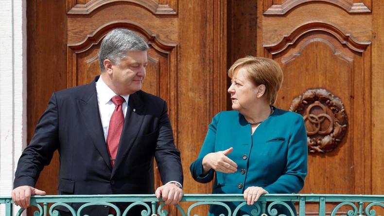 Angela Merkel stellt Ukraine neue Gespräche über Friedenslösung in Aussicht
