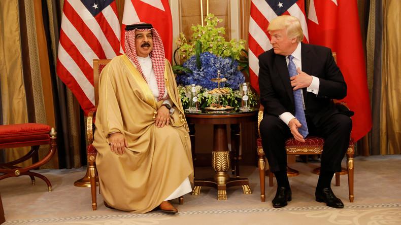 Donald Trump trifft in Saudi-Arabien König von Bahrain