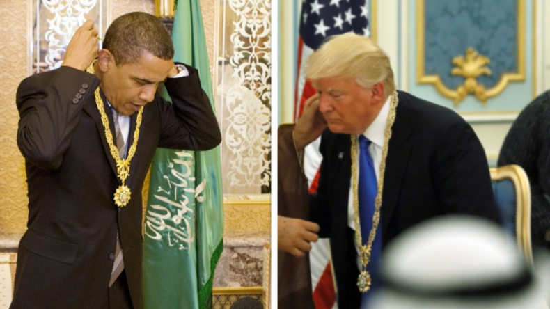 """Obama und Trump haben nun etwas gemeinsam: Die höchste """"zivile Auszeichnung"""" Saudi-Arabiens"""