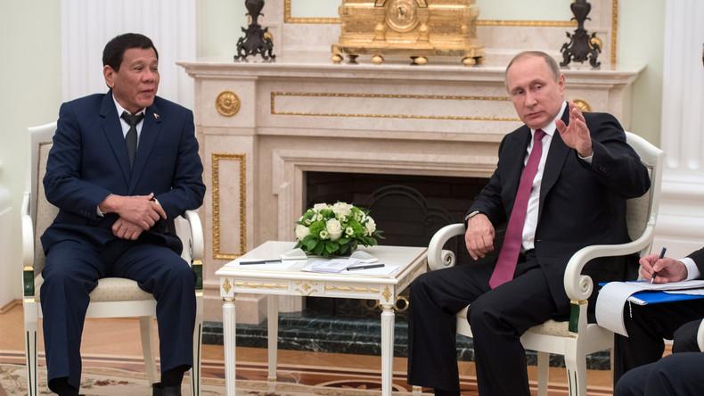 Duterte trifft Putin, will Waffen kaufen und muss Moskaureise wegen Terrorkrise abbrechen