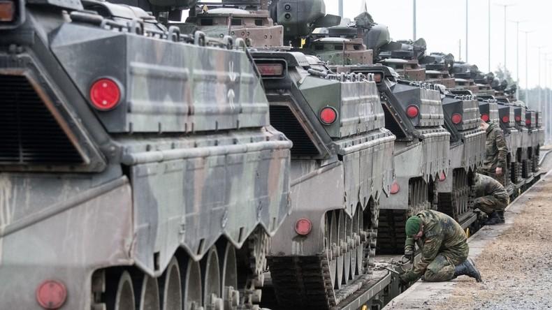 Norwegisches Militärgerät für Nato-Bataillon in Litauen eingetroffen