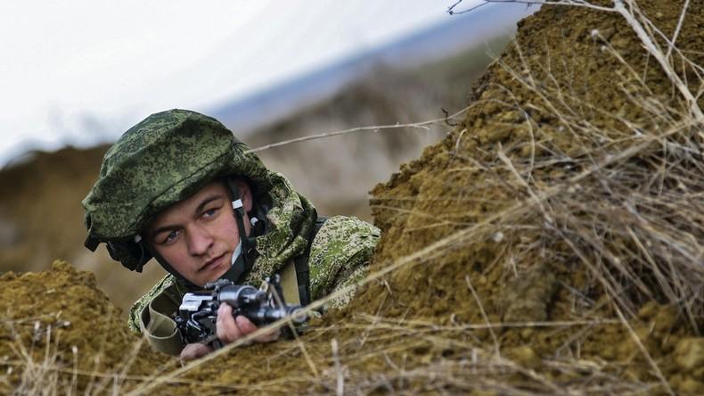 Russische Sondereinsatzkräfte starten zweite Etappe der Übungen auf der Krim