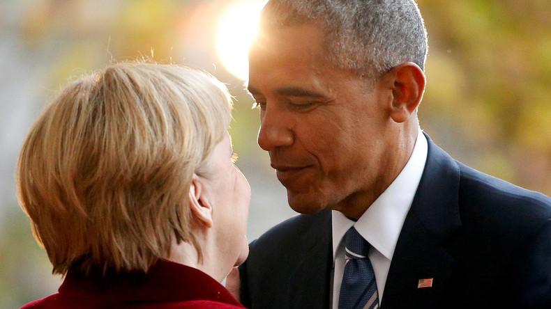 Kirchentag mit Barack Obama: Auftritt des Ex-US-Präsidenten und der Bundeskanzlerin Angela Merkel