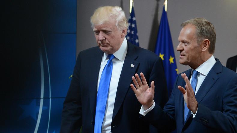 Trump in Brüssel: EU-Ratspräsident Tusk sieht Uneinigkeit mit US-Präsident in Russland-Frage