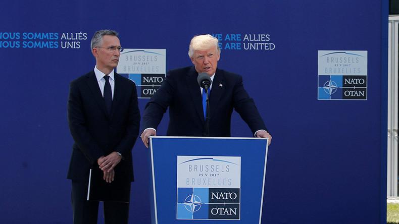 """Trump ruft NATO auf, sich auf Terrorismus, Migration und """"russische Bedrohung"""" zu konzentrieren"""