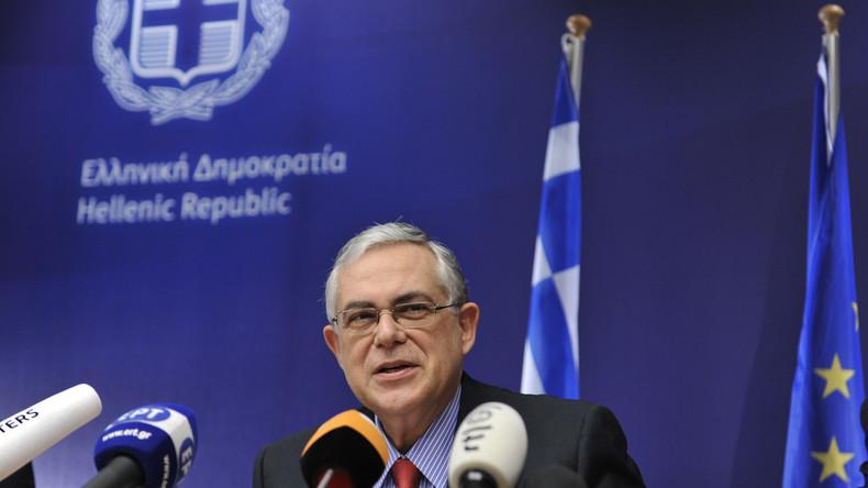 Wagen des Ex-Premiers Griechenlands explodiert - Politiker und Fahrer in Krankenhaus eingeliefert
