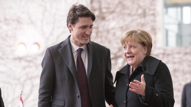 """Fashion-Guru"" Angela Merkel: ""Flotte Socken, Justin Trudeau!"""