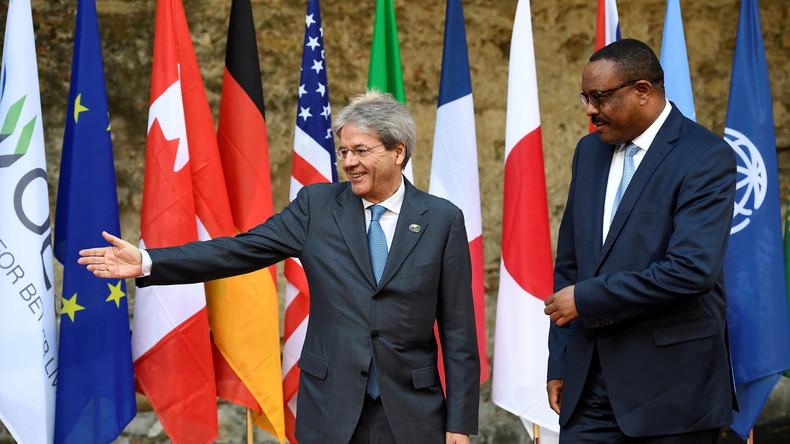 G7-Führer treffen Vertreter afrikanischer Staaten