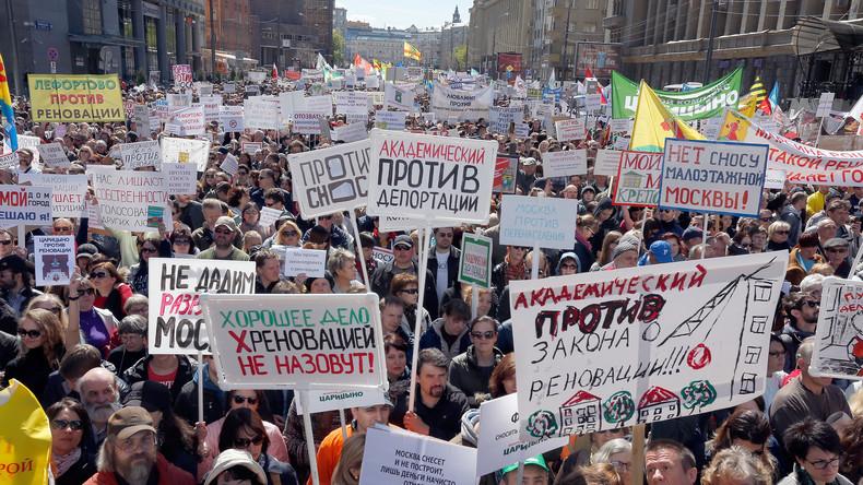 Tausende Moskauer protestieren gegen geplante Umsiedlung