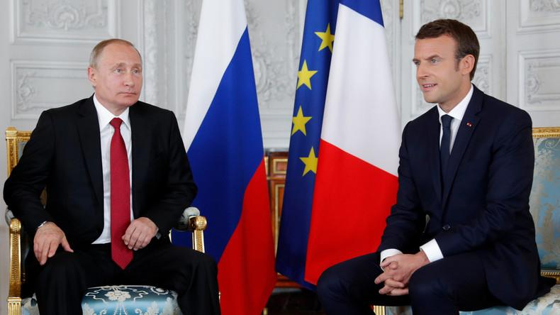 Wladimir Putin trifft Emmanuel Macron in Versailles