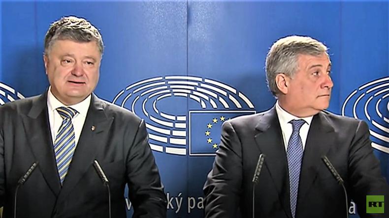 Historischer Tag? Europäischer Parlamentschef langweilt sich, während Petro Poroschenko spricht