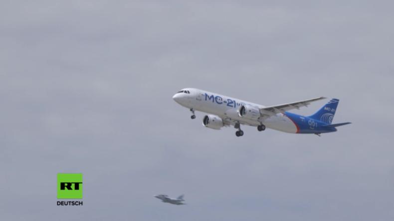 MS-21-300 lässt die Konkurrenz alt aussehen: Russland präsentiert sein neuestes Passagierflugzeug