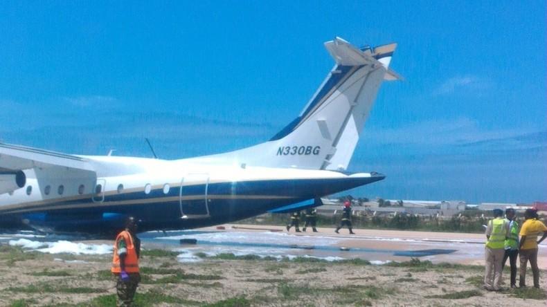 Bruchlandung von Flugzeug einer US-Firma in Somalia