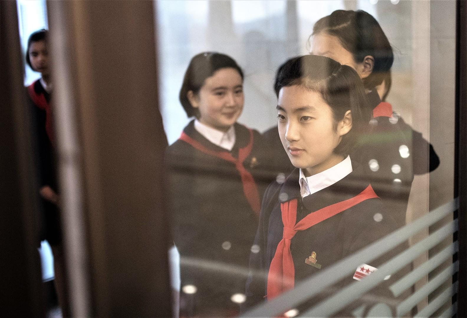 Schülerinnen im Palast der Kinderkreativität in Pjöngjang, 14. April 2017.