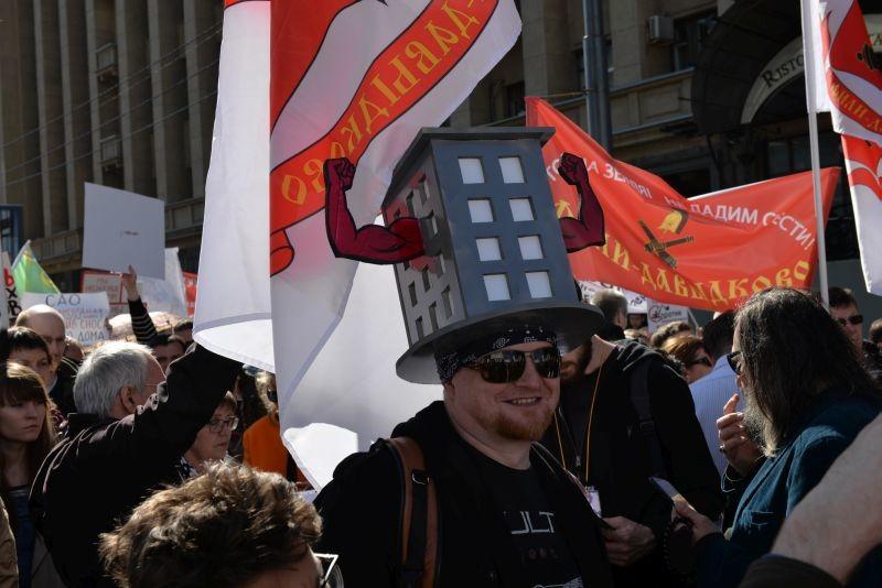 Moskauer demonstrieren gegen neues Gesetz zu Umsiedlung und Wohnungsneubau