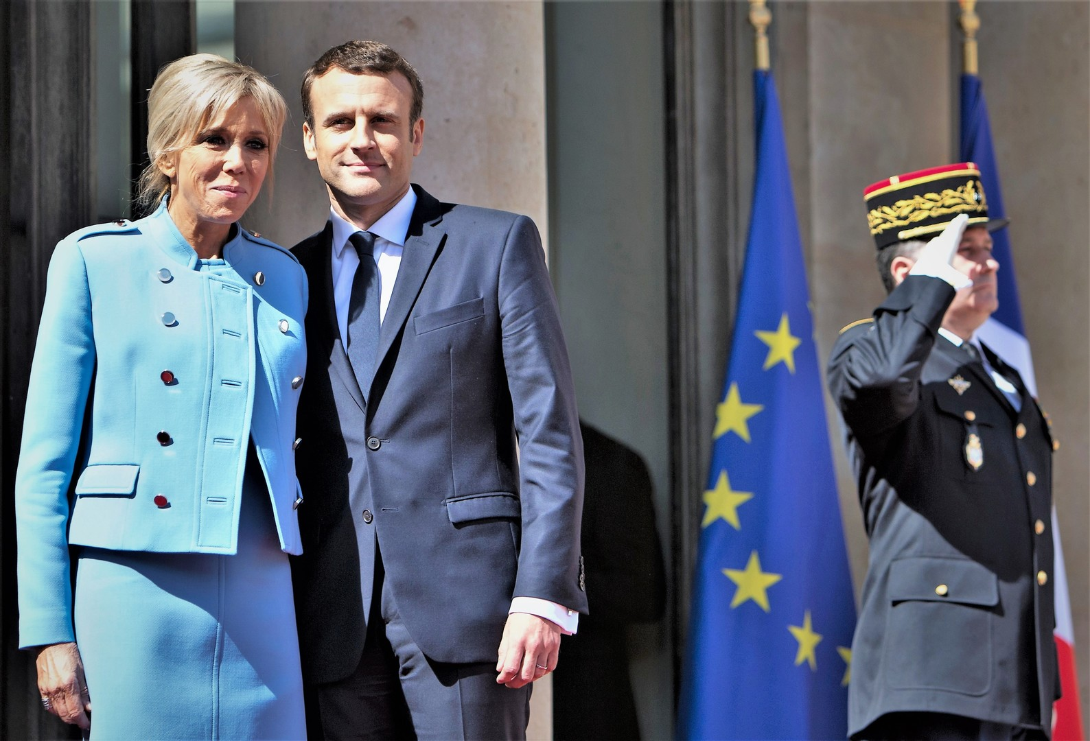 Macron in Paris