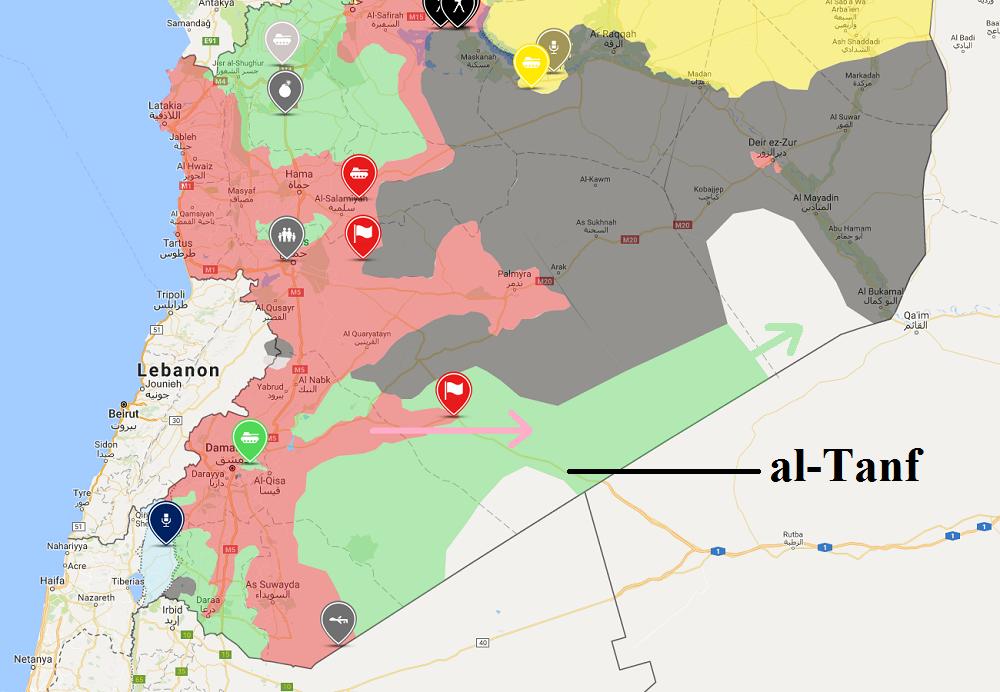 Syrische Armee rückt auf US-Militärbasis in al-Tanf vor