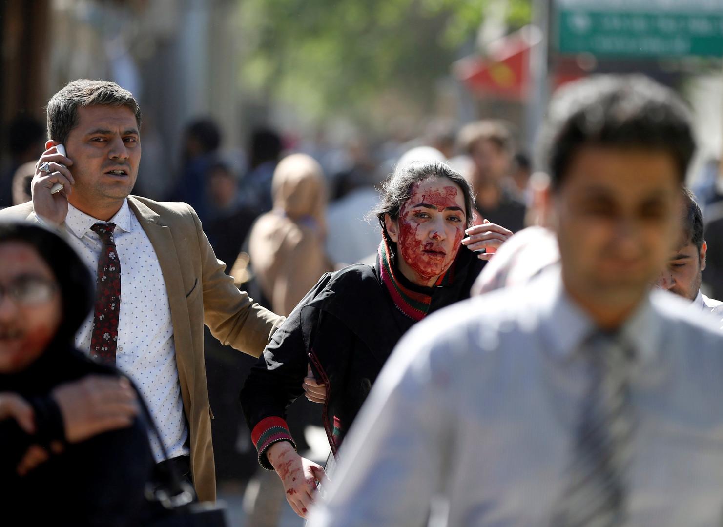 Erste Bilder nach dem Anschlag Kabuls und der stark beschädigten deutschen Botschaft