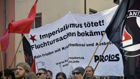 Demonstration zum 1. Mai in Nürnberg.