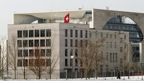 Die Schweizer Botschaft in Berlin, in unmittelbarer Nähe des Bundeskanzleramts.