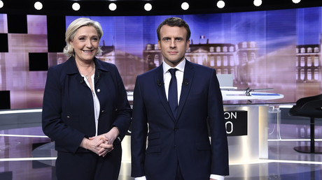 Die beiden französischen Präsidentschaftskandidaten Marine Le Pen und Emmanuel Macron