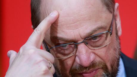 Geht ihm schon die Puste aus? Der SPD-Spitzenkandidat Martin Schulz hat nach zwei verlorenen Wahl viel Grund zum Grübeln.